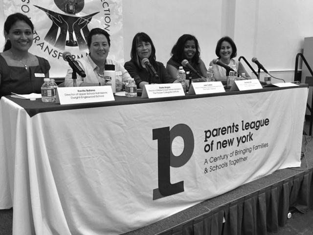 Panel discussion about middle and upper school admissions